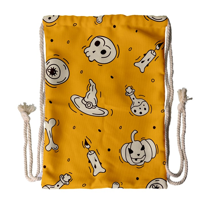 Funny Halloween Party Pattern Drawstring Bag (Large)