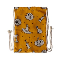 Funny Halloween Party Pattern Drawstring Bag (small)