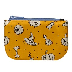 Funny Halloween Party Pattern Large Coin Purse