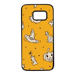 Funny Halloween Party Pattern Samsung Galaxy S7 Black Seamless Case by HalloweenParty