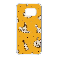 Funny Halloween Party Pattern Samsung Galaxy S7 White Seamless Case