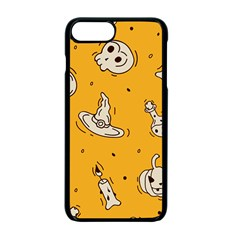 Funny Halloween Party Pattern Apple Iphone 7 Plus Seamless Case (black)