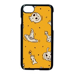 Funny Halloween Party Pattern Apple Iphone 7 Seamless Case (black)