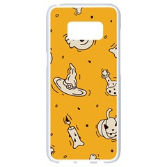 Funny Halloween Party Pattern Samsung Galaxy S8 White Seamless Case