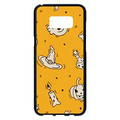 Funny Halloween Party Pattern Samsung Galaxy S8 Plus Black Seamless Case