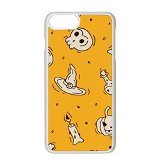 Funny Halloween Party Pattern Apple Iphone 8 Plus Seamless Case (white)