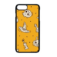 Funny Halloween Party Pattern Apple Iphone 8 Plus Seamless Case (black)