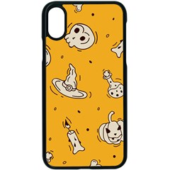 Funny Halloween Party Pattern Apple Iphone X Seamless Case (black)