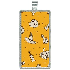 Funny Halloween Party Pattern Rectangle Necklace