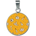 Funny Halloween Party Pattern 20mm Round Necklace Front