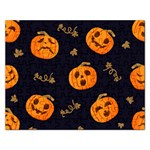 Funny Scary Black Orange Halloween Pumpkins Pattern Rectangular Jigsaw Puzzl Front