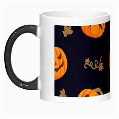 Funny Scary Black Orange Halloween Pumpkins Pattern Morph Mugs