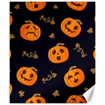 Funny Scary Black Orange Halloween Pumpkins Pattern Canvas 8  x 10  10.02 x8 Canvas - 1