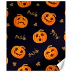Funny Scary Black Orange Halloween Pumpkins Pattern Canvas 20  x 24  24 x20 Canvas - 1