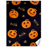 Funny Scary Black Orange Halloween Pumpkins Pattern Canvas 36  x 48  48 x36 Canvas - 1