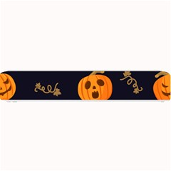 Funny Scary Black Orange Halloween Pumpkins Pattern Small Bar Mats