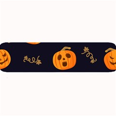 Funny Scary Black Orange Halloween Pumpkins Pattern Large Bar Mats