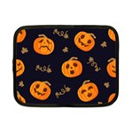 Funny Scary Black Orange Halloween Pumpkins Pattern Netbook Case (Small) Front