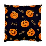 Funny Scary Black Orange Halloween Pumpkins Pattern Standard Cushion Case (One Side) Front