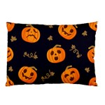 Funny Scary Black Orange Halloween Pumpkins Pattern Pillow Case 26.62 x18.9  Pillow Case