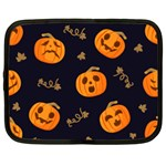 Funny Scary Black Orange Halloween Pumpkins Pattern Netbook Case (XL) Front