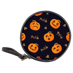 Funny Scary Black Orange Halloween Pumpkins Pattern Classic 20 Cd Wallets