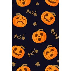 Funny Scary Black Orange Halloween Pumpkins Pattern 5 5  X 8 5  Notebook
