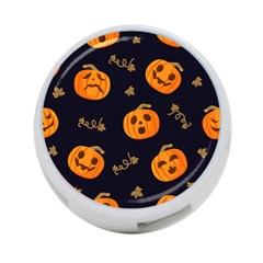 Funny Scary Black Orange Halloween Pumpkins Pattern 4 Port Usb Hub (two Sides)