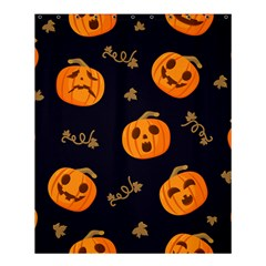 Funny Scary Black Orange Halloween Pumpkins Pattern Shower Curtain 60  X 72  (medium)