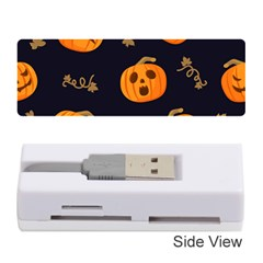 Funny Scary Black Orange Halloween Pumpkins Pattern Memory Card Reader (stick)