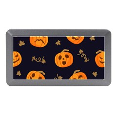 Funny Scary Black Orange Halloween Pumpkins Pattern Memory Card Reader (mini)