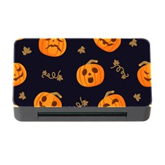 Funny Scary Black Orange Halloween Pumpkins Pattern Memory Card Reader With Cf