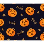Funny Scary Black Orange Halloween Pumpkins Pattern Deluxe Canvas 14  x 11  (Stretched) 14  x 11  x 1.5  Stretched Canvas