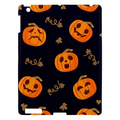 Funny Scary Black Orange Halloween Pumpkins Pattern Apple Ipad 3/4 Hardshell Case