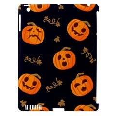 Funny Scary Black Orange Halloween Pumpkins Pattern Apple Ipad 3/4 Hardshell Case (compatible With Smart Cover)