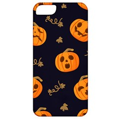 Funny Scary Black Orange Halloween Pumpkins Pattern Apple Iphone 5 Classic Hardshell Case