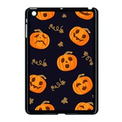Funny Scary Black Orange Halloween Pumpkins Pattern Apple Ipad Mini Case (black)