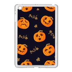 Funny Scary Black Orange Halloween Pumpkins Pattern Apple Ipad Mini Case (white)