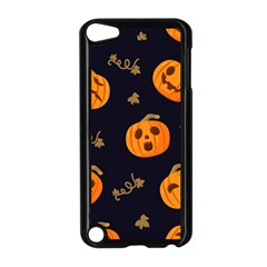 Funny Scary Black Orange Halloween Pumpkins Pattern Apple Ipod Touch 5 Case (black)
