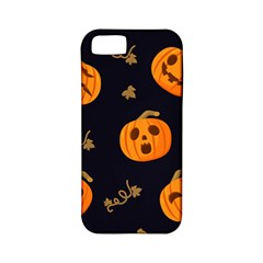 Funny Scary Black Orange Halloween Pumpkins Pattern Apple Iphone 5 Classic Hardshell Case (pc+silicone)