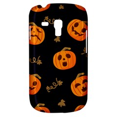 Funny Scary Black Orange Halloween Pumpkins Pattern Samsung Galaxy S3 Mini I8190 Hardshell Case