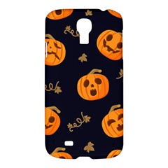 Funny Scary Black Orange Halloween Pumpkins Pattern Samsung Galaxy S4 I9500/i9505 Hardshell Case