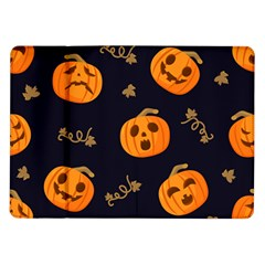 Funny Scary Black Orange Halloween Pumpkins Pattern Samsung Galaxy Tab 10 1  P7500 Flip Case
