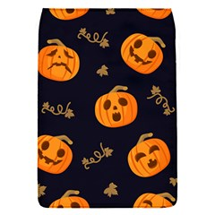 Funny Scary Black Orange Halloween Pumpkins Pattern Removable Flap Cover (s) by HalloweenParty