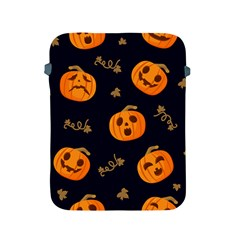 Funny Scary Black Orange Halloween Pumpkins Pattern Apple Ipad 2/3/4 Protective Soft Cases