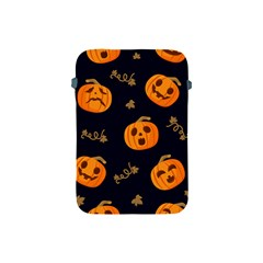 Funny Scary Black Orange Halloween Pumpkins Pattern Apple Ipad Mini Protective Soft Cases