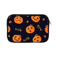 Funny Scary Black Orange Halloween Pumpkins Pattern Apple Ipad Mini Zipper Cases