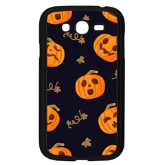 Funny Scary Black Orange Halloween Pumpkins Pattern Samsung Galaxy Grand Duos I9082 Case (black)