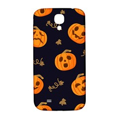 Funny Scary Black Orange Halloween Pumpkins Pattern Samsung Galaxy S4 I9500/i9505  Hardshell Back Case