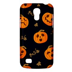 Funny Scary Black Orange Halloween Pumpkins Pattern Samsung Galaxy S4 Mini (gt I9190) Hardshell Case